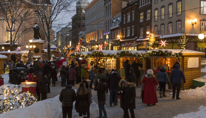 Old Quebec City Christmas Market.Quebec City S German Christmas Market Hotel Chateau